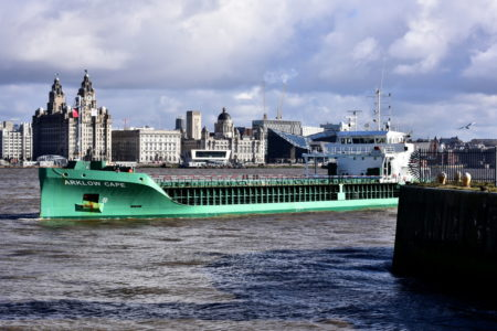 Ships on the Mersey and high and low tides on Friday, August 9